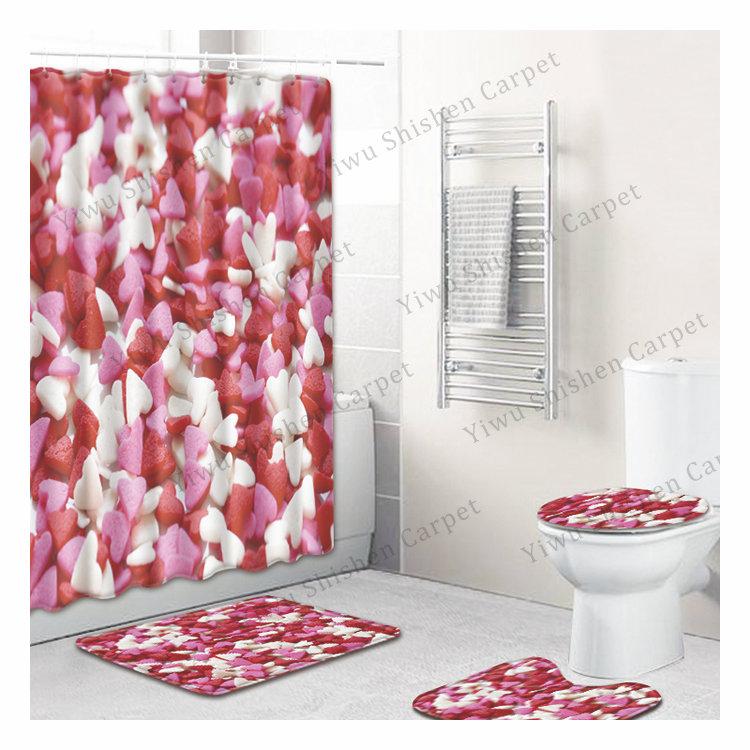 良い品質クジラ海軍浴室敷物セットセーフトイレ敷物セットアクア風呂マット