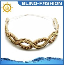 High quality elegant Hair Accessories colored crystal hair rubber band for women