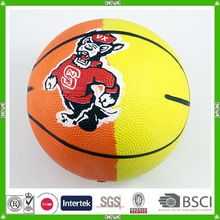 China custom synthetic rubber basketball with customized logo