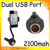 Universal cell phone car holder with usb charger , anti slip cell phone holder