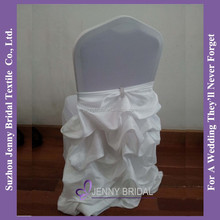 C152B new fancy ruffled spandex folding chair cover for wedding