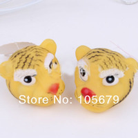W062 New arrival pet supplies pet sound toys tiger head vocalization toys tiger hot-selling