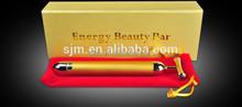 G106 Solar energy Power 24K Gold Beauty Bar Facial Vibration Massager Bar