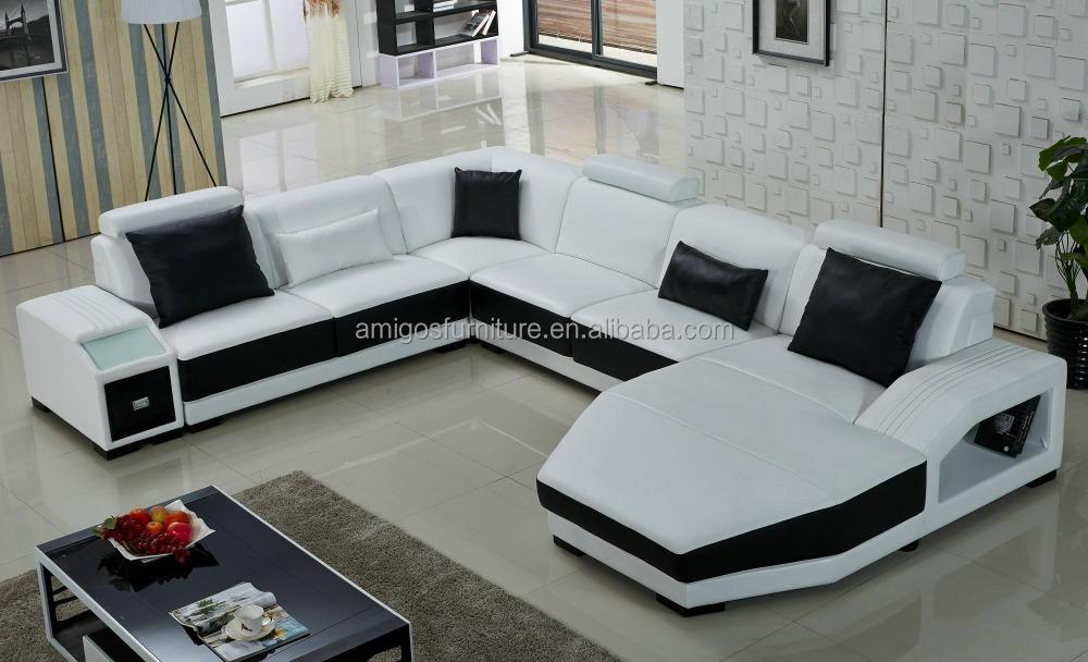 Classical furniture modern sofa set cheap l shape sofa - Sofas modernos italianos ...