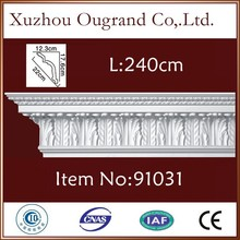 lightweight pu cornice moulding price for window decor