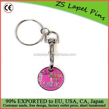 Custom Keyring Born to Shop Trolley Coin