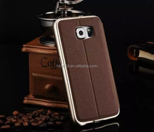Top selling s6 G9200 kxx bumper case with pu leather cover case for samsung galaxy s6 edge High quality fashion design