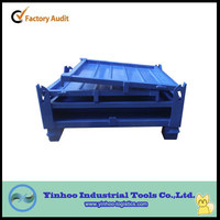 High-quality stackable and foldable storage box ,folding metal steel pallet box