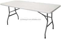 6ft 8ft outdoor folding table small portable plastic folding table