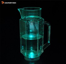 durable transparent plastic beer pitcher with cups