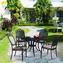 2015 New outdoor furniture set patio furniture chair and table set aluminum die casting