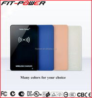 New Wholesale Travel Zinc Alloy Colorful Qi Standard Wireless Charger for Mobile Phone