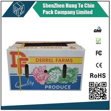 Shipping packaging moving factory new product custom fruit and vegetable use waxed corrugated cardboard boxes