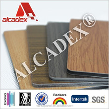 3mm PE interior wall cladding materials. wooden finish panels
