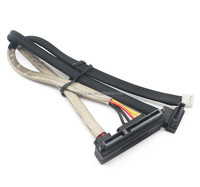 90 degree 7+15 pin HDD to 4 pin power cable to 7pin function of sata cable antistatic shielding