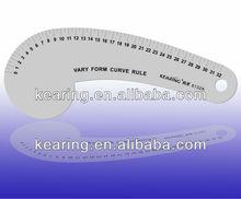 Kearing brand,high quality aluminium equipment ruler,alumunim styling design curve ruler,vary form curve ruler#6132A