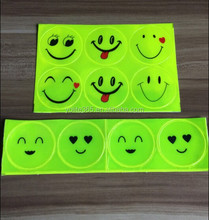 RS001-EN13356 PVC Smile featured promotional reflective sticker on the backpack for children