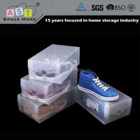 Wholesale clear hard plastic shoe storage box
