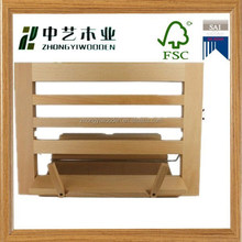 2015 year china factory suppliers sale FSC&SA8000 Wooden Office Book Holder&Book Display Stand