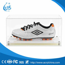 acrylic Display Case for a Pair of Football Boots with a Modern Base Clear Acrylic Shoe Box