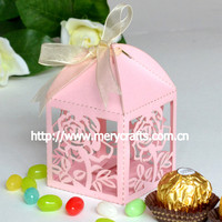 personalized flower visible bonbon packaging box with clear lid