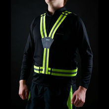 elastic adjustable reflective safety belt with custom logo