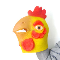 Manufacture Halloween Full Head Eco-friendly Animal Latex Chicken Mask
