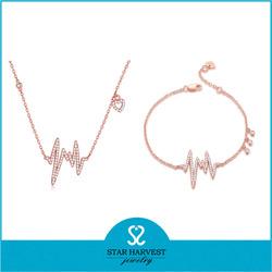 Newest valentine nickel free silver lighting rose gold cheap bulk jewelry