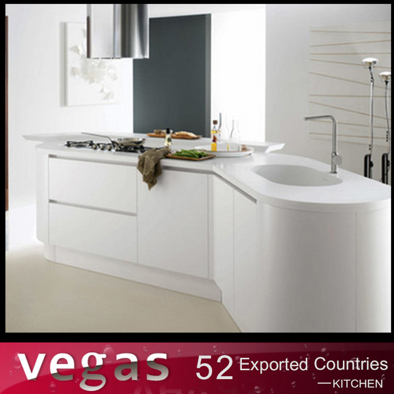 European standard cream color automatic open kitchen for Automatic kitchen cabinets