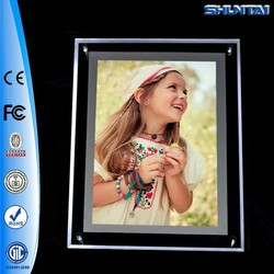 Newest crystal advertising acrylic photo led light box poster