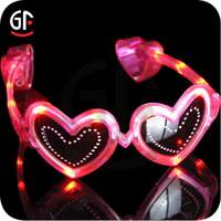 China Supplier Wholesale LED Party Glasses Heart Shaped Sunglasses