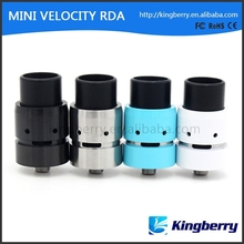 China electronic cigarette products Mini Velocity rda 1:1 clone atomizer from kingberry