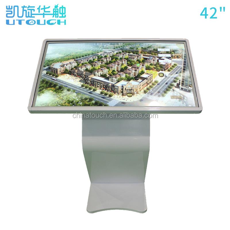 Com software 43 polegada shopping restaurante candeeiro de mesa de toque quiosque stand
