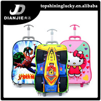 Kids trolley school bag 3D pattern children bags and luggages