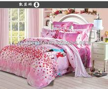 printed european union export design cotton bedsheet/comforter set