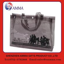 Excellent quality black color extra large reusable vinyl tote shopping plastic bag