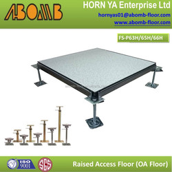Building material compete to cheaper floor tiles 600x600mm HPL tile fireproof anti static raised access floor system