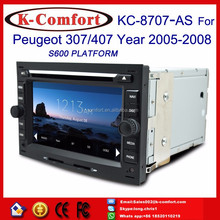 K-Comfort good touch screen car dvd player for peugeot 407 with GPS + SWC + Radio + RDS BT+ SD + USB CD/DVD IPOD Aux-in