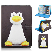 Cute Penguin Stand TPU+PU Leather Tablet Case For iPad Mini 1/2/3