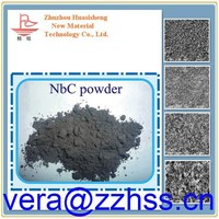 high melting point niobium carbide powder 0.8-1.5um Use cermet and carbide additives materials Niobium Carbide Powder