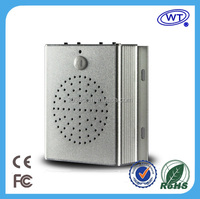 Motion sensor activated mp3 warning player speaker with two-way induction