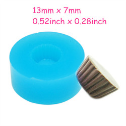 GYL163 Cupcake 13mm Tart Bottom Silicone Flexible Push Mold - Miniature Food Sweets (Clay Fimo Resins Gum Paste)