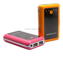 2014 hot selling shinecon famous brand mobile power bank 7800mah/manual for power bank charger