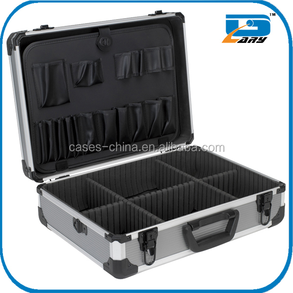 2015 new portable aluminum tool box with metal corner