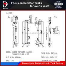 High performance radiator plastic tanks for GM/CHEVROLET CHRYSLER CARAVAN/VOYAGER 1993~1995 AT/MT