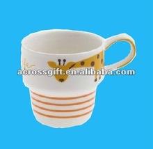 decla cute giraffe white ceramic mug