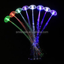 2015 Promotion Gift Plastic Butterfly Clips With Led Hair Optic Fiber Light