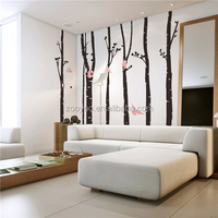 ZOOYOO big colorful tree innovative stickers various tree sets stickers beautiful tree forest and animals wallpapers (8262)