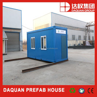 China low cost 20ft cheap finished prefab portable container house for sale
