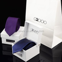 Custom High End White Cardboard or Wood Tie package packing boxes
